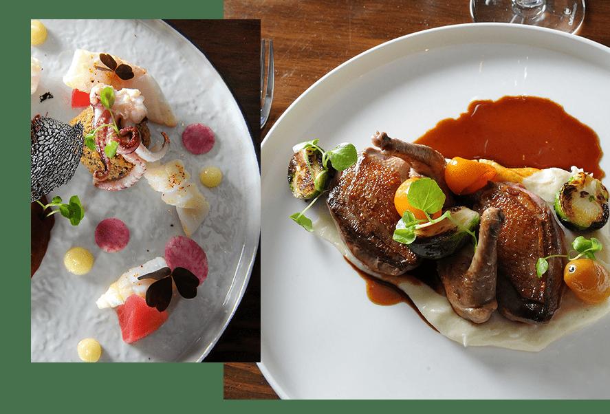 Une bonne cuisine, des plats délicats, fins et raffinés servis avec élégance