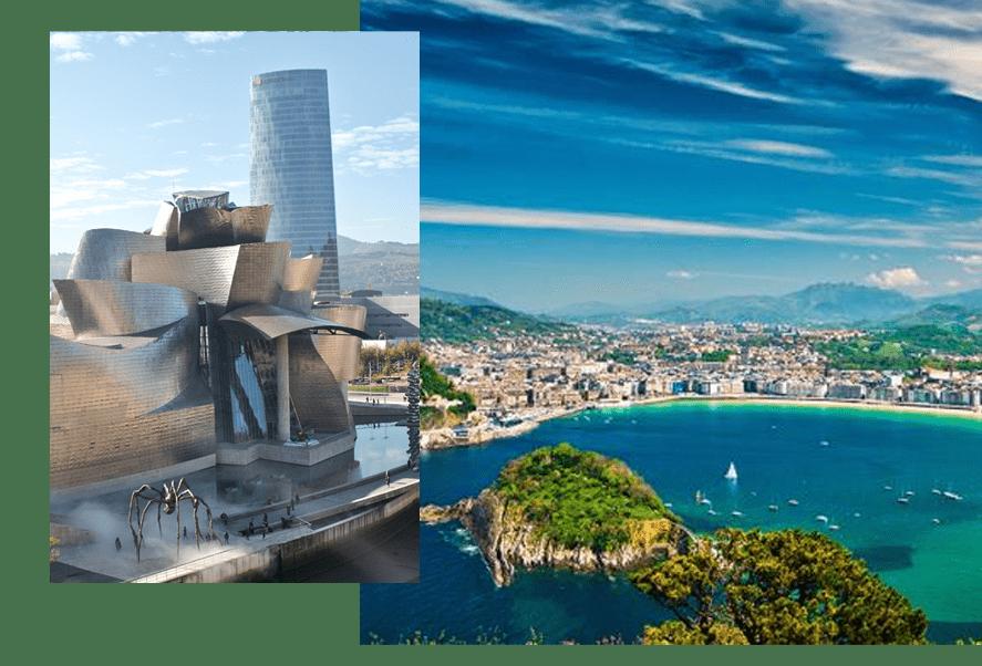Le Pays Basque espagnol proche de Saint-Jean-de-Luz et du château d'Urtubie proposant ses baies reposantes et ses plages relaxantes