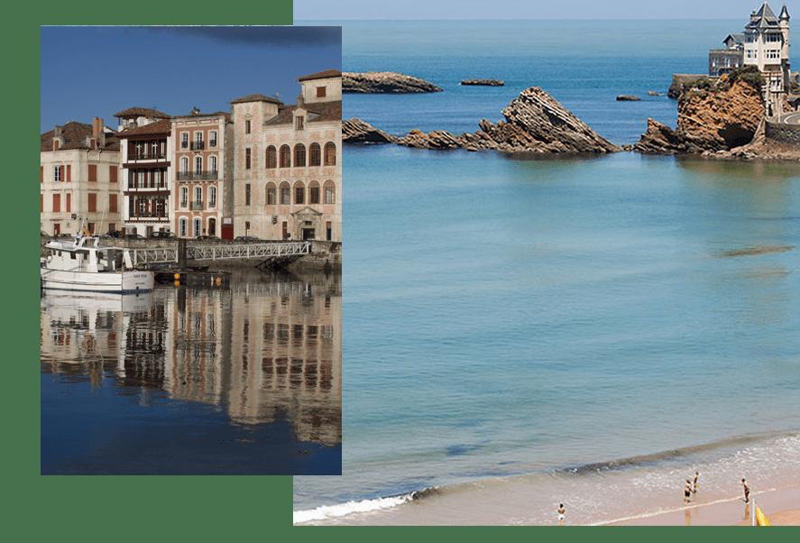 Magnifique expérience pittoresque des villages Basques proche de Biarritz et de ses plages avec la possibilité de surf, randonnées, traversées en bateau et beaucoup d'autres activités